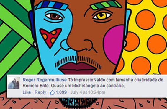 Naldo mostra CD feito por Romero Britto e recebe comentários maravilhosos