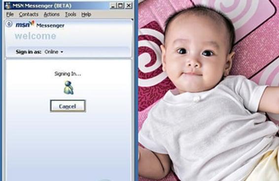 Diga como você era no MSN e diremos qual será o nome do seu futuro filho