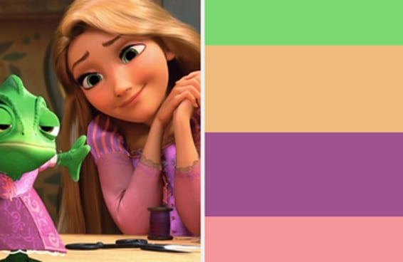 Você consegue adivinhar qual é a princesa da Disney apenas pela sua paleta de cores?