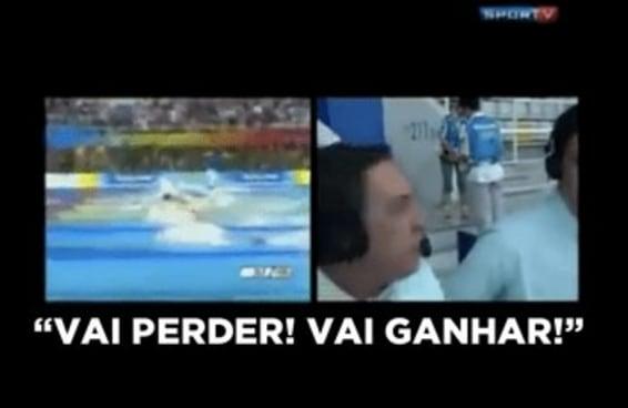Este vídeo do Galvão Bueno narrando o Michael Phelps é a história de nossas vidas