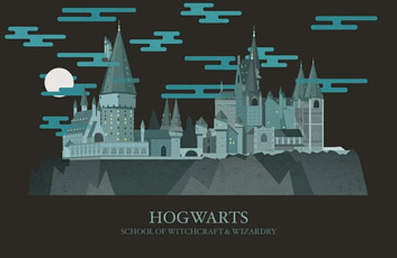 """Estas ilustrações de locais onde se passa a saga de """"Harry Potter"""" são mágicas"""