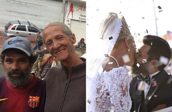 Este casal de catadores ganhou um casamento dos sonhos na Parada de Franco da Rocha
