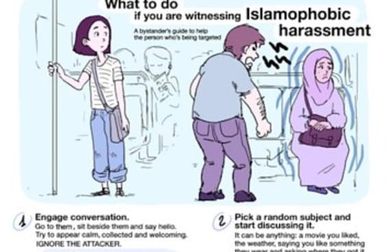 Uma ilustradora fez um guia perfeito sobre como reagir em casos de islamofobia