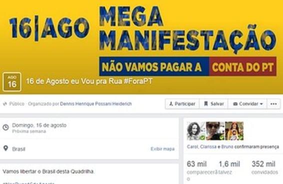 Truque transforma evento contra Aécio no Facebook em manifestação anti-PT