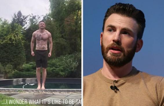Acabamos de descobrir que Chris Evans tem tatuagens no corpo inteiro depois que ele postou uma foto na piscina