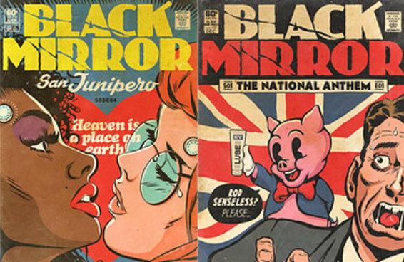 """Um artista brasileiro criou capas fantásticas de HQs para """"Black Mirror'"""