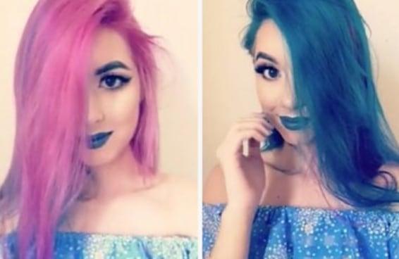 O cabelo mágico desta garota vai acabar com sua indecisão