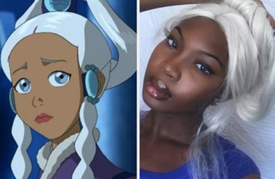 """Essa adolescente foi alvo de comentários racistas após se comparar com uma personagem de """"Avatar: O Último Mestre do Ar"""""""