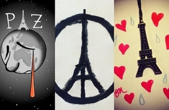 23 obras de arte comoventes em homenagem às vítimas dos ataques de Paris