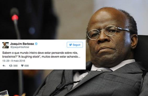 Joaquim Barbosa diz que Brasil vai virar piada no exterior com anulação do impeachment