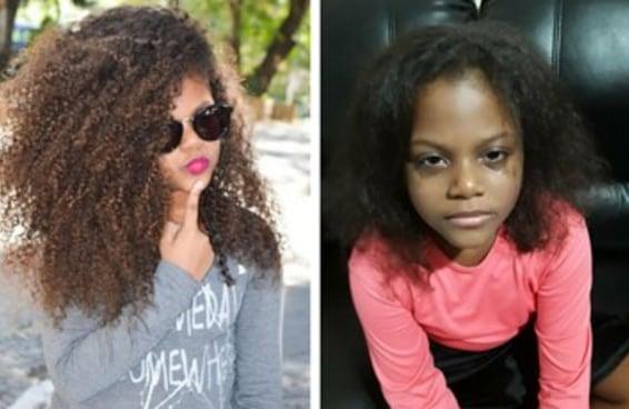 Bella amava seus cachos, mas alisaram o cabelo da menina sem autorização da mãe