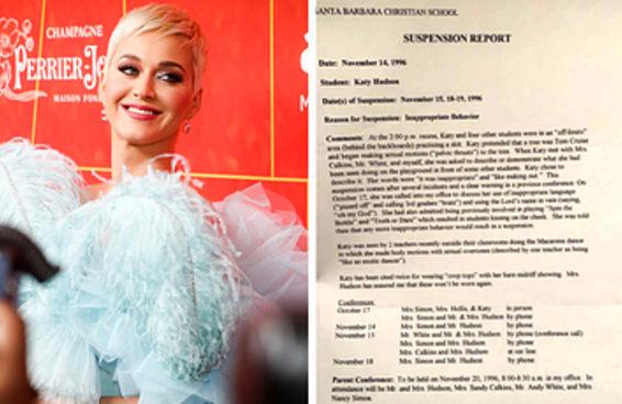 Sobre aquela vez que Katy Perry foi suspensa da escola por sarrar em uma árvore chamada Tom Cruise
