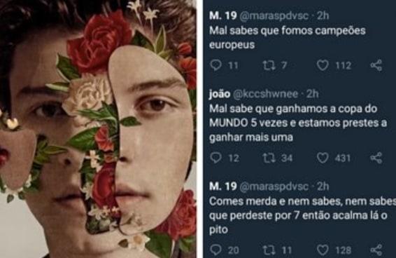 A Copa mal começou e o Brasil já ganhou de Portugal no Twitter do Shawn Mendes