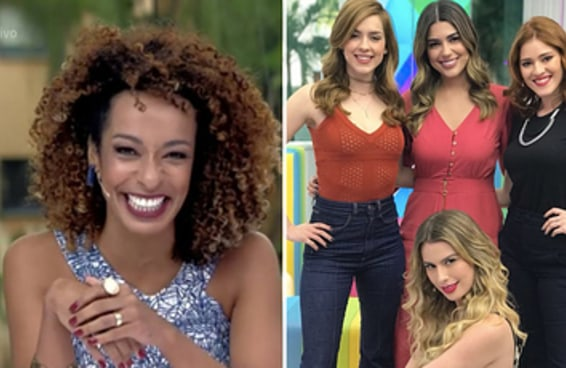 """O público não curtiu a troca da única apresentadora negra do """"Vídeo Show"""" por 4 mulheres brancas"""