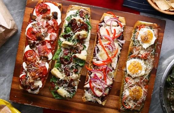 Barquinhos de pizza de 30 minutos