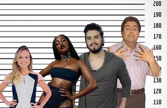 Qual celebridade brasileira tem a mesma altura do que você?