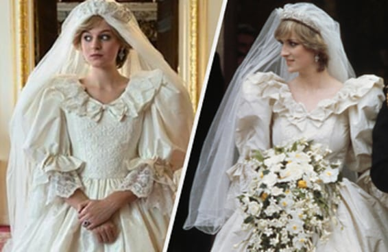 The Crown recriou o vestido do casamento da Princesa Diana e NOSSA!