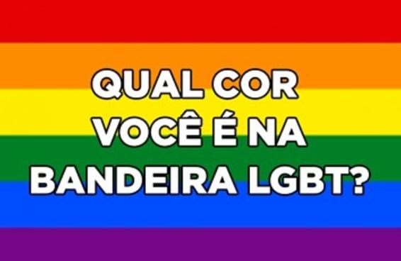 Qual cor você é na bandeira LGBT?