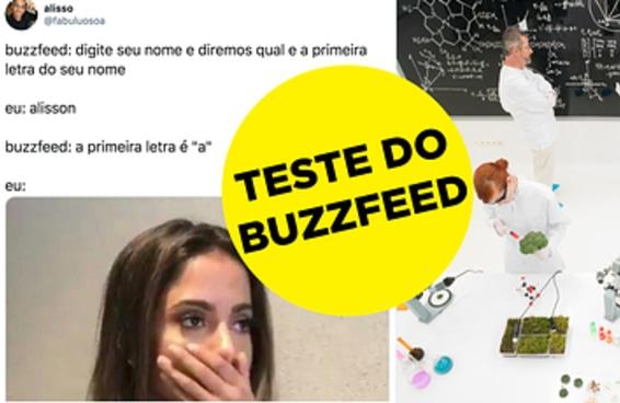 Estes testes do BuzzFeed nem existem mas nós já acertamos o resultado