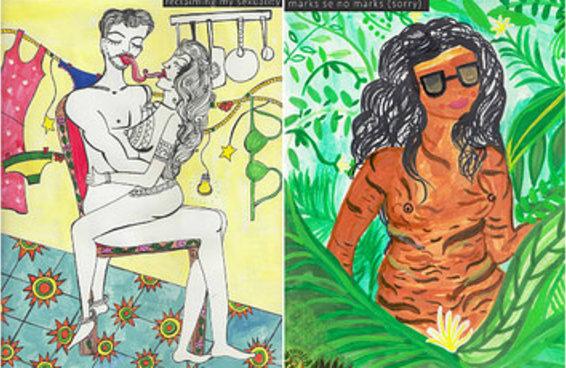 Esta artista está mostrando como as pessoas enxergam seus próprios corpos