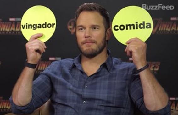 Desafiamos Chris Pratt a escolher entre Vingadores e as comidas do Tasty