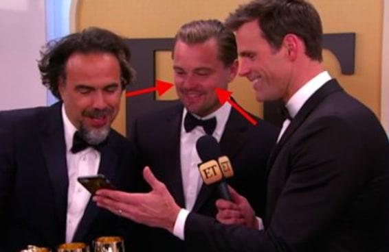 Leonardo DiCaprio ficou vermelho quando assistiu a si mesmo fazendo aquela cara para a Lady Gaga