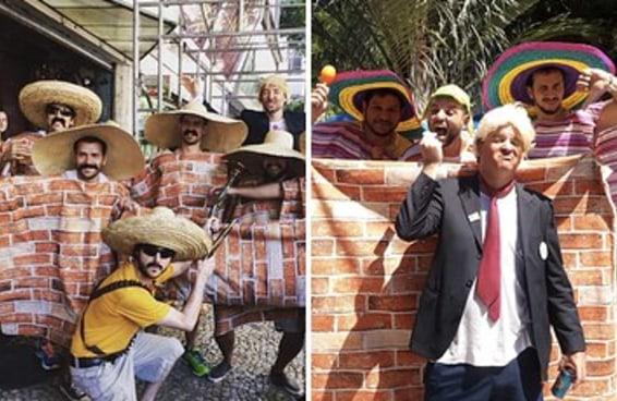 """Parece que """"Muro do Trump"""" já é a melhor fantasia do Carnaval"""