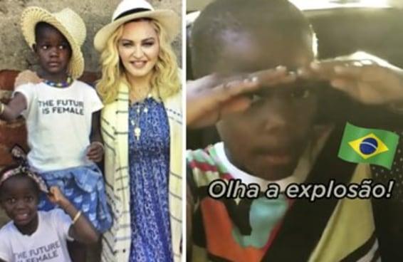 A Madonna botou MC Kevinho pras filhas ouvirem e elas manjam tudo