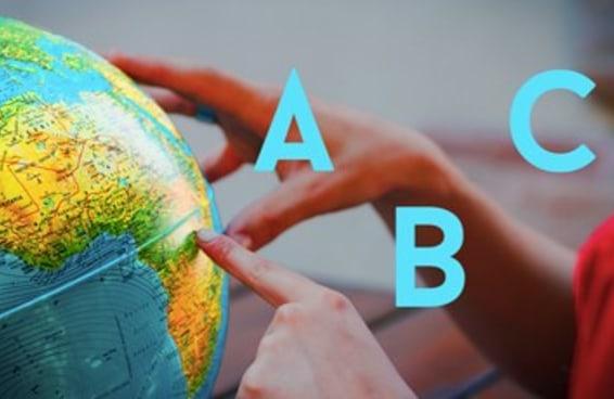 Será que você consegue dizer o nome de um país a partir de cada letra do alfabeto?