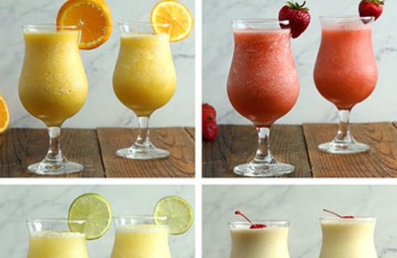 Quatro drinques super refrescantes na versão com ou sem álcool