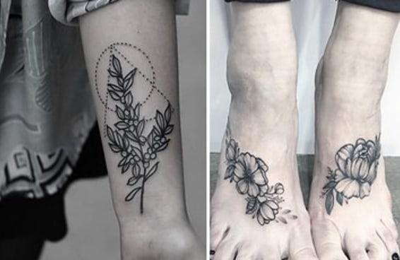 22 tatuagens florais que são extremamente delicadas
