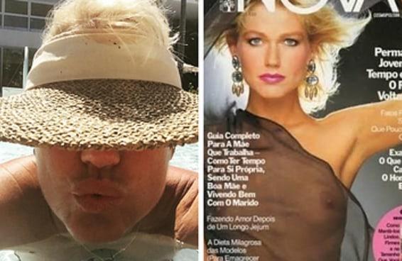 Xuxa tirou o maior barato de quem reclamou do peito dela à mostra em foto do Facebook