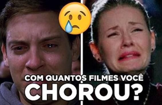 Em quantos destes filmes você chorou?