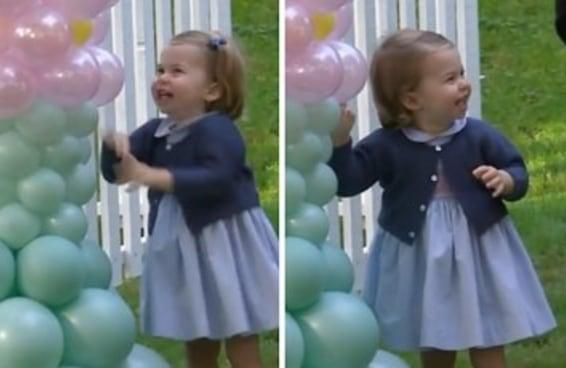 A felicidade da princesa Charlotte é nada mais do que contagiante