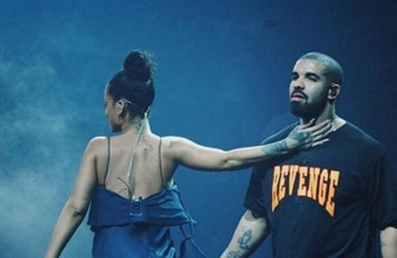 Drake e Rihanna se beijaram em público de novo e podemos ficar em paz