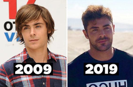 Fizemos o desafio 2009 vs. 2019 com 21 homens lindos