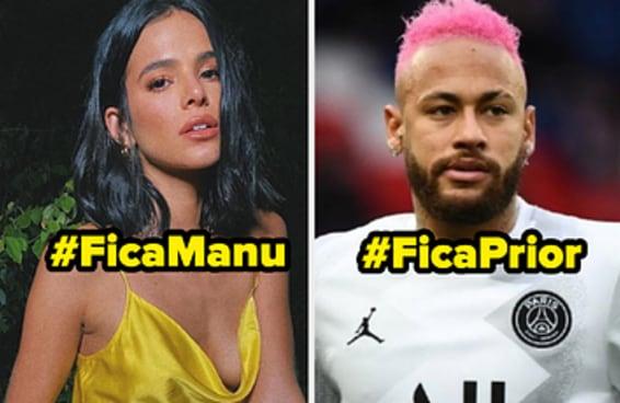 Os famosos entraram na disputa entre Manu Gavassi e Felipe Prior, veja quem está de cada lado