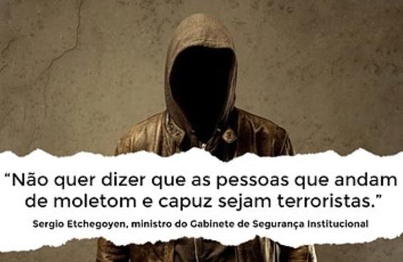 Ministro se irritou com comparação entre roupa de adolescente e de terrorista