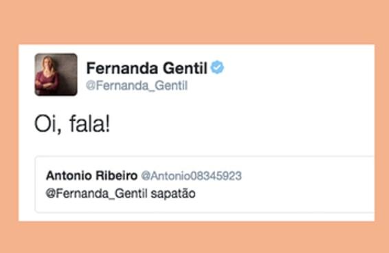 """A resposta de Fernanda Gentil ao receber um """"sapatão"""" é melhor do que textão"""