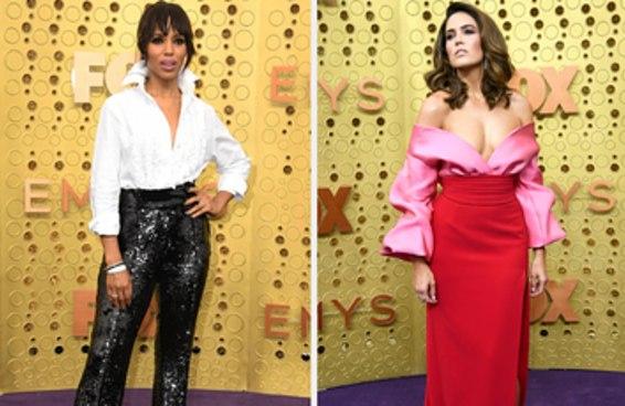 Os melhores looks do tapete vermelho do Emmy são pretos, brancos e vermelhos