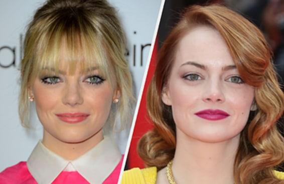 Quando você pensa nestas celebridades, quais cores de cabelo vêm à sua mente?