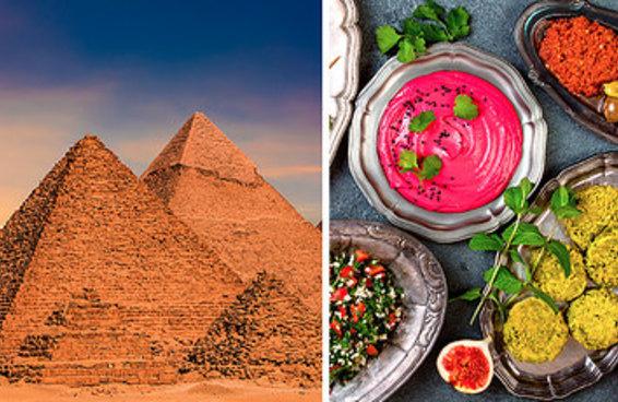 Faça seu prato neste buffet internacional e diremos para onde ir na sua próxima viagem