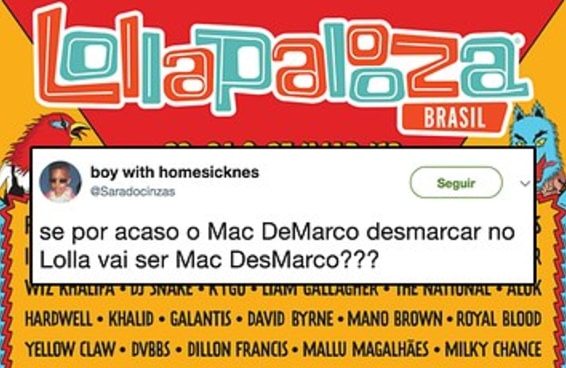 14 provas de que não paga ingresso para rir com o Lollapalooza