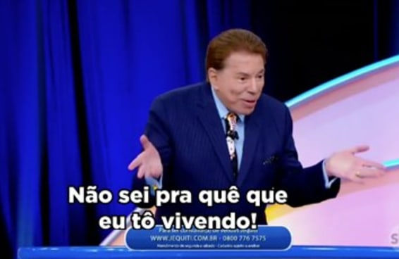 """Silvio Santos foi sincero demais sobre a própria velhice no """"Roda Roda"""""""