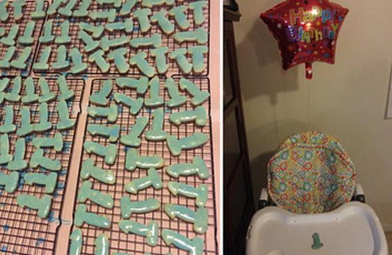 Esta mãe fez biscoitinhos para o 1º aniversário do filho, mas ele saíram um pouquinho diferentes