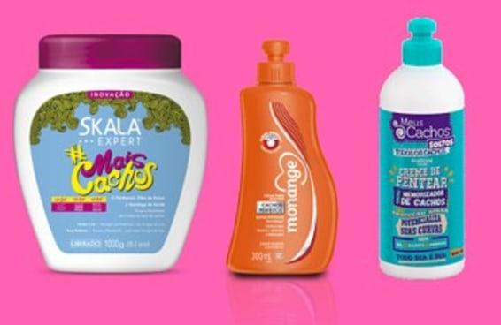 14 produtos que provam que não é preciso gastar muito para manter cabelos cacheados