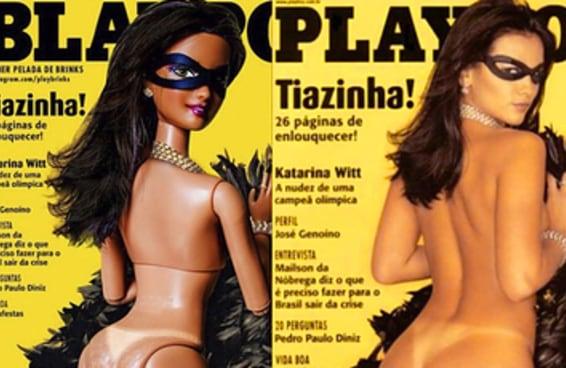 Barbies reproduzem capas da Playboy brasileira no Instagram