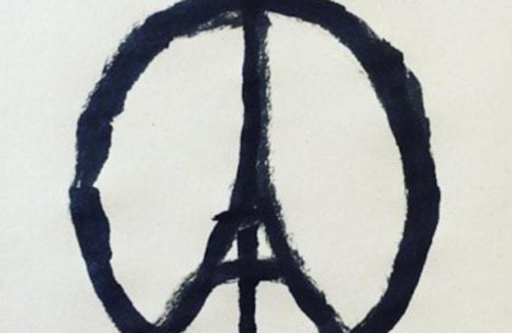 Um artista cria uma pintura simples que se torna o símbolo dos ataques em Paris