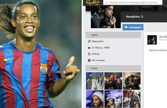 Ronaldinho Gaúcho lança rede social onde o curtir é aquele famoso sinal