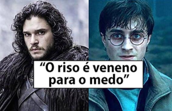 """Você consegue diferenciar as frases de """"Harry Potter"""" das de """"Game of Thrones""""?"""